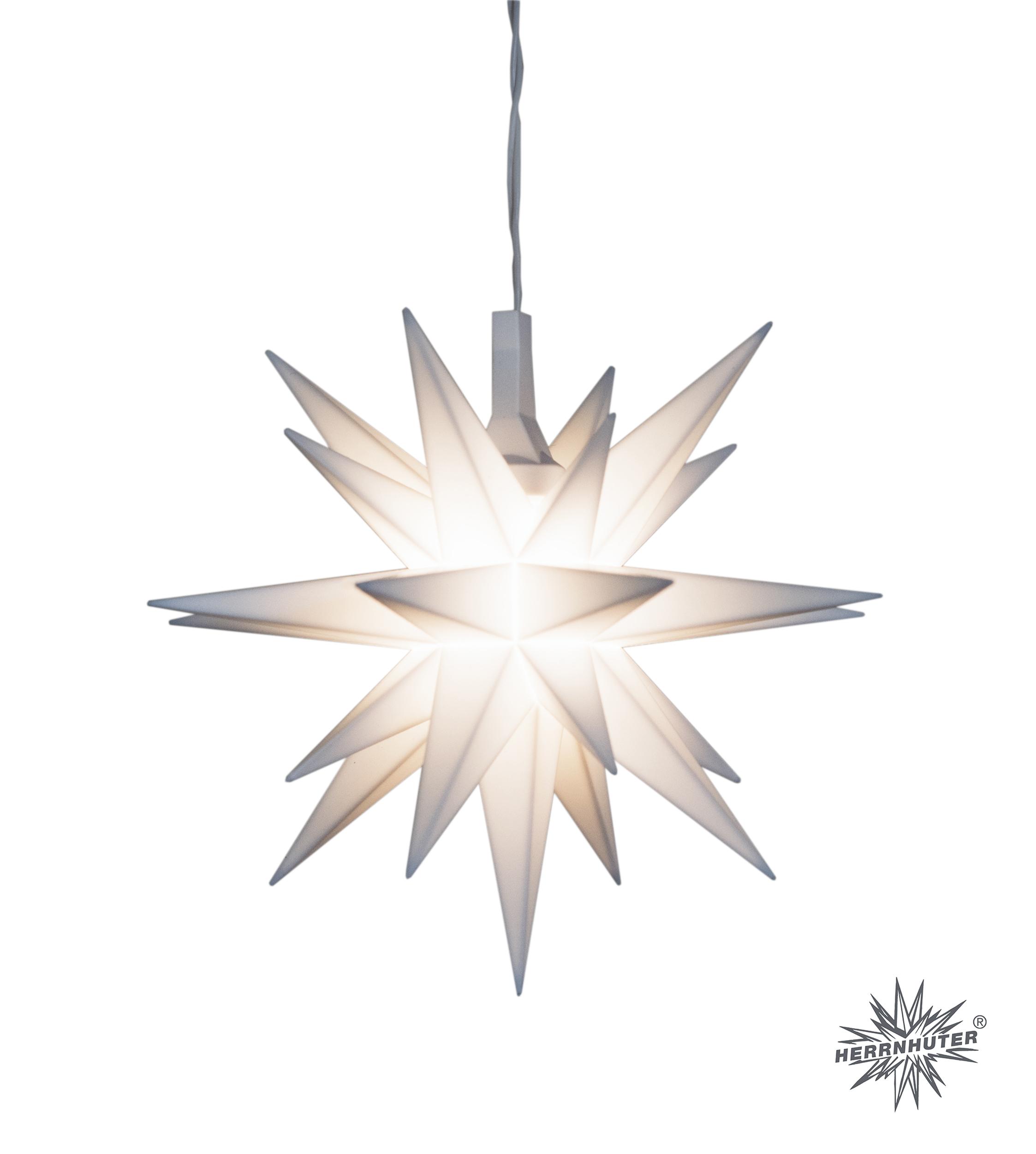 Herrnhuter Miniaturstern – ca. 8cm Kunststoff . weiß
